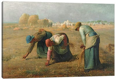 The Gleaners, 1857  Canvas Art Print