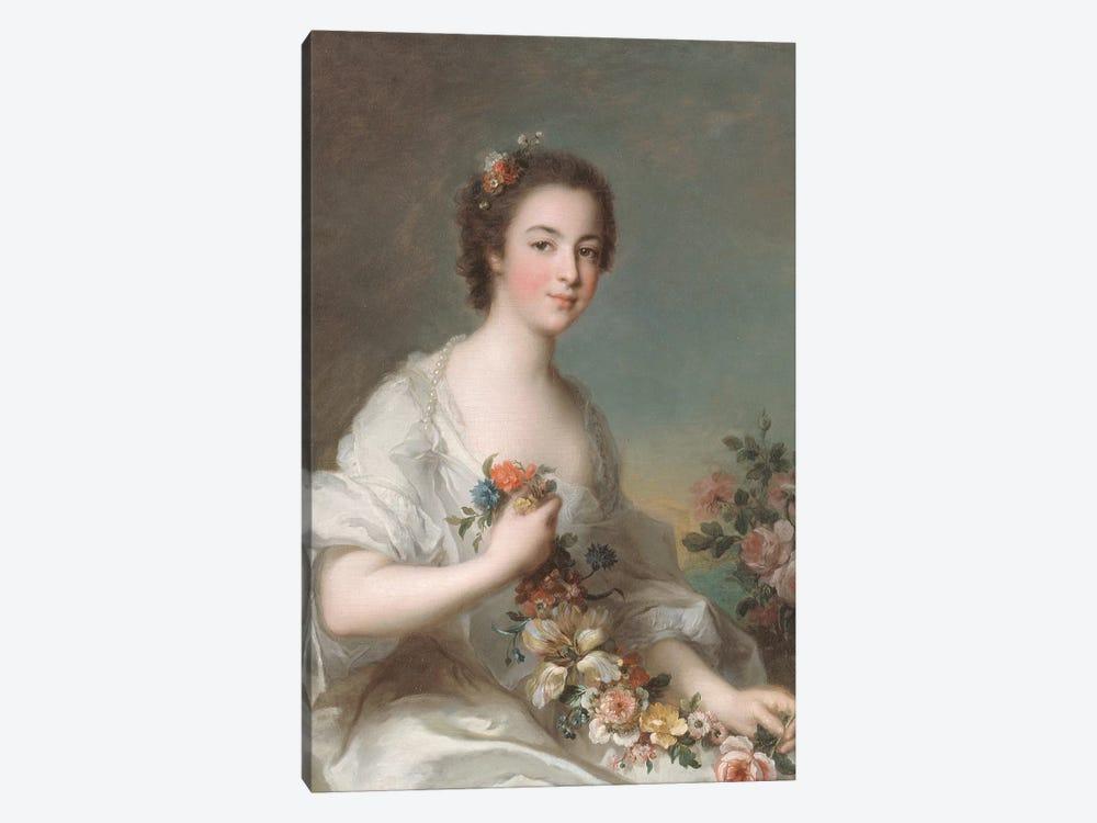 Portrait of a Lady, 1738  by Jean-Marc Nattier 1-piece Canvas Art Print