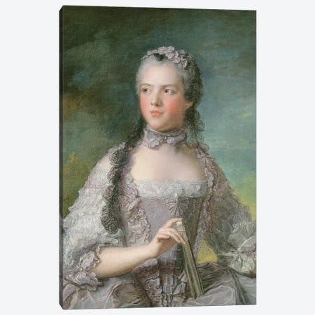Portrait of Adelaide de France  with a Fan, 1749  Canvas Print #BMN10548} by Jean-Marc Nattier Canvas Artwork