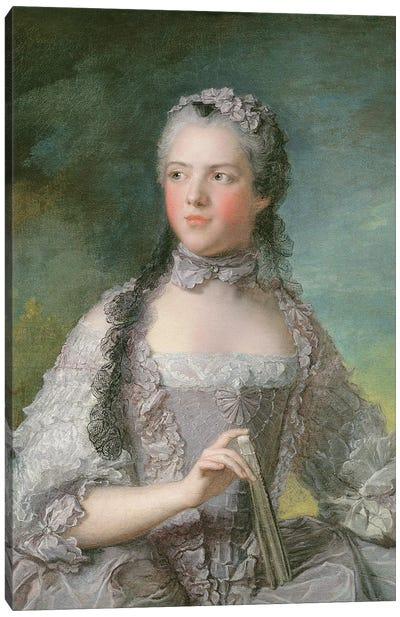 Portrait of Adelaide de France  with a Fan, 1749  Canvas Art Print
