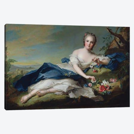 Portrait of Henriette de France, c.1742  Canvas Print #BMN10549} by Jean-Marc Nattier Canvas Artwork