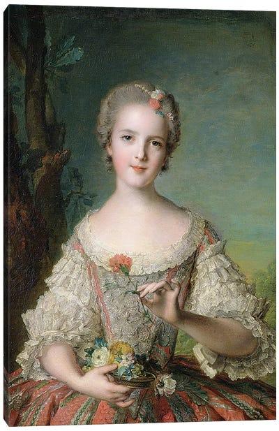 Portrait of Madame Louise de France  at Fontevrault, 1748  Canvas Art Print