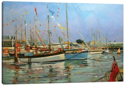 Old Gaffers, Yarmouth, Isle of Wight, 2011  Canvas Art Print