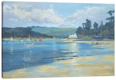 Salcombe - Late Afternoon Light, 2008  Canvas Art Print