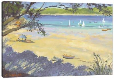 Salcombe Southsands Beach  Canvas Art Print