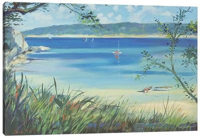 Salcombe, Southsands Beach, 2000  Canvas Art Print
