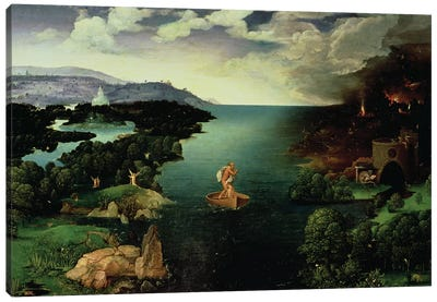 Charon Crossing the River Styx, 1515-24  Canvas Art Print