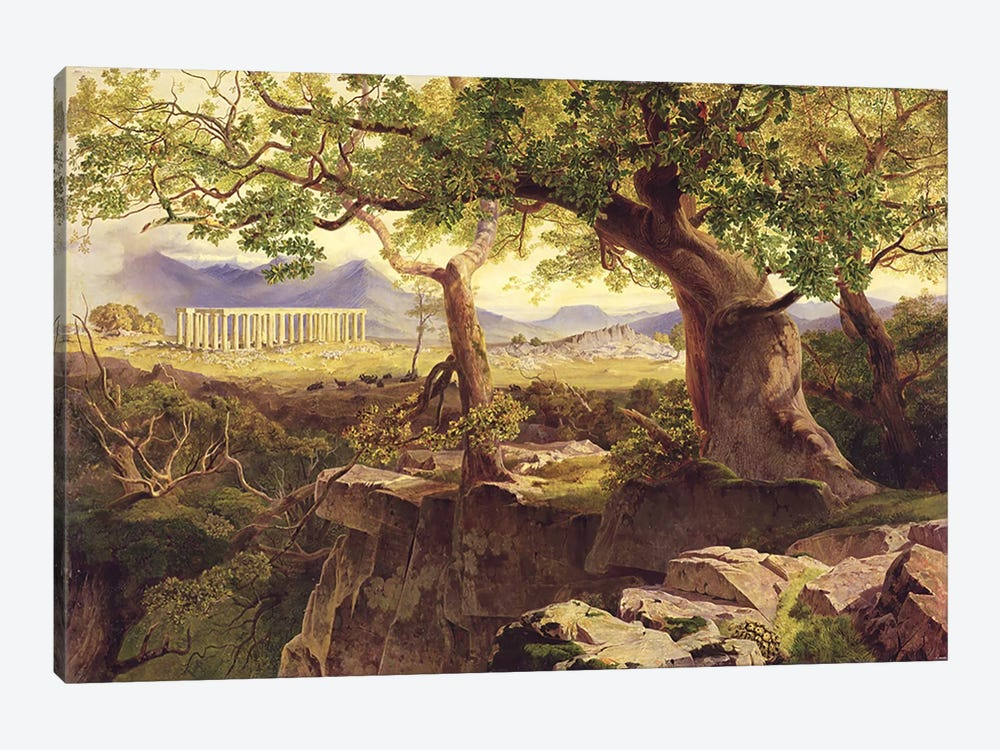 The Temple of Apollo, Bassae, 1854-55  by Edward Lear 1-piece Art Print