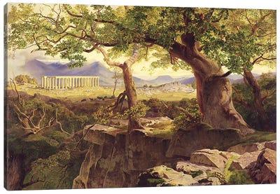 The Temple of Apollo, Bassae, 1854-55  Canvas Art Print
