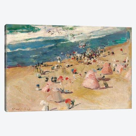 Beach at Biarritz, 1906  Canvas Print #BMN10587} by Joaquin Sorolla y Bastida Art Print