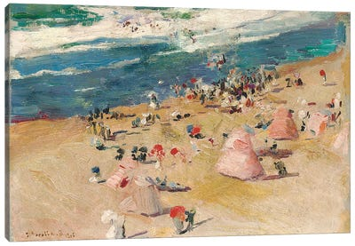 Beach at Biarritz, 1906  Canvas Art Print