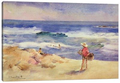 Boy on the Sand  Canvas Art Print