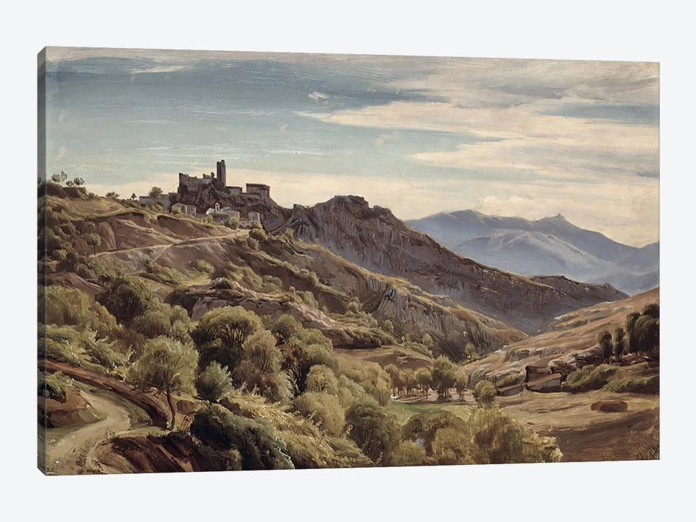 View of Olevano  by Franz Theobald Horny 1-piece Canvas Artwork