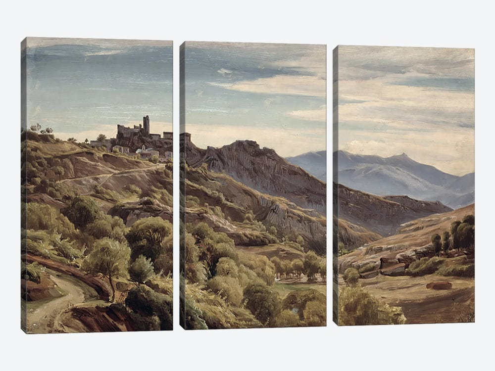 View of Olevano  by Franz Theobald Horny 3-piece Canvas Wall Art