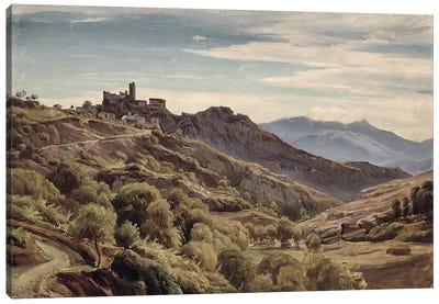 View of Olevano  Canvas Art Print