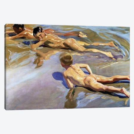 Children on the Beach, 1910  Canvas Print #BMN10590} by Joaquin Sorolla y Bastida Canvas Print