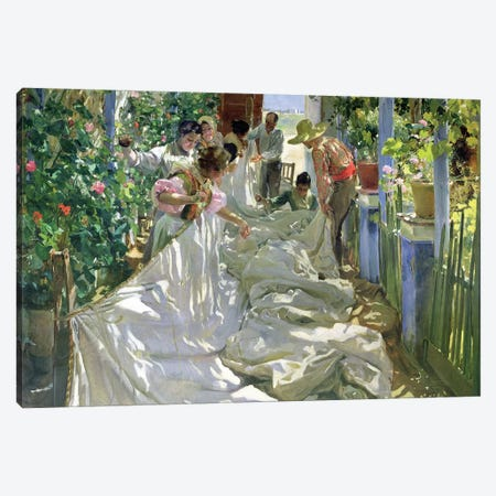 Mending the Sail, 1896  Canvas Print #BMN10591} by Joaquin Sorolla y Bastida Art Print