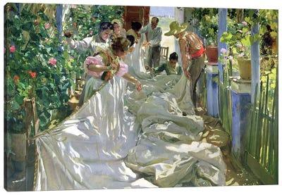 Mending the Sail, 1896  Canvas Art Print