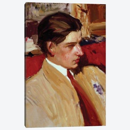 Self portrait in profile  Canvas Print #BMN10594} by Joaquin Sorolla y Bastida Canvas Art