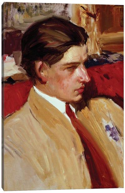 Self portrait in profile  Canvas Art Print