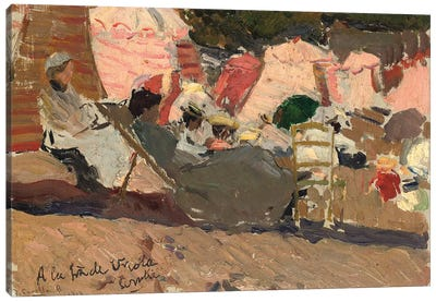 The Beach, Biarritz, 1906  Canvas Art Print