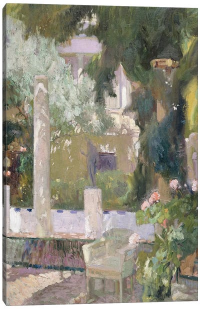 The Gardens at the Sorolla Family House, 1920  Canvas Art Print