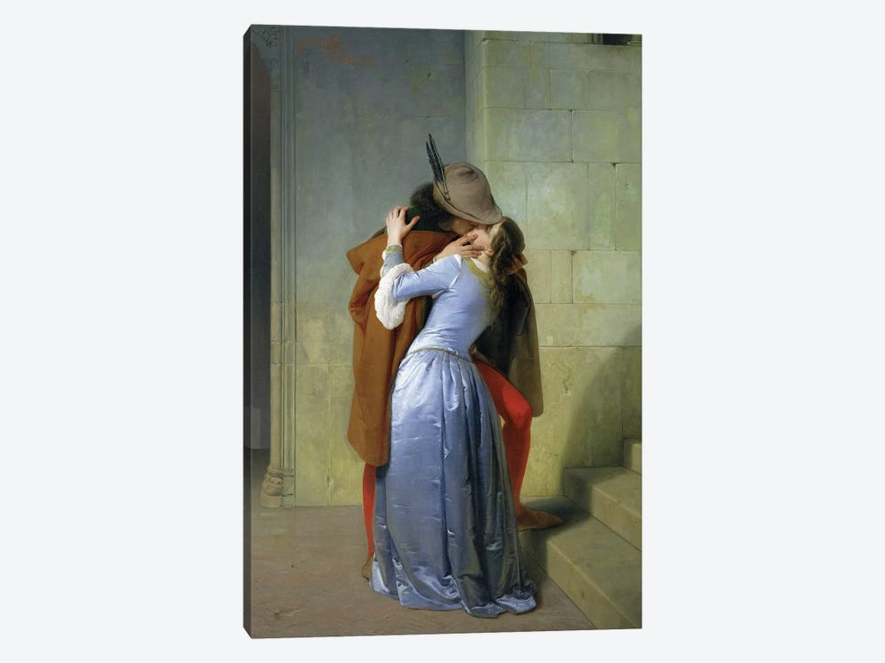 The Kiss, 1859  1-piece Art Print