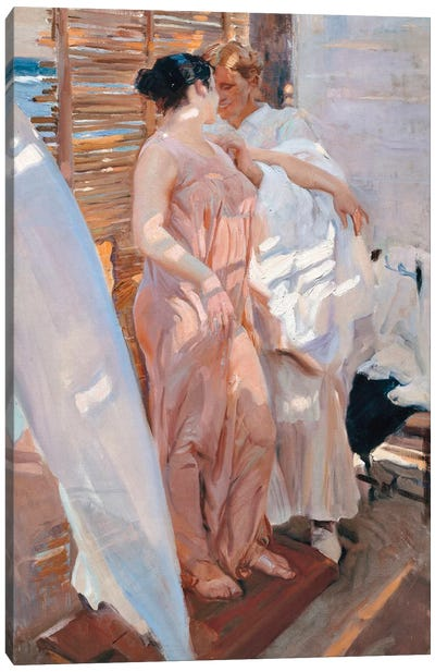 The Pink Robe, After the Bath, 1916  Canvas Art Print