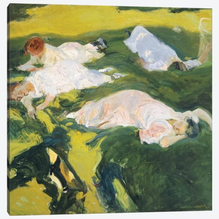 The Siesta, 1911  Canvas Print #BMN10601} by Joaquin Sorolla y Bastida Art Print