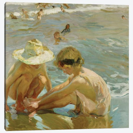 The Wounded Foot, 1909  Canvas Print #BMN10602} by Joaquin Sorolla y Bastida Canvas Print