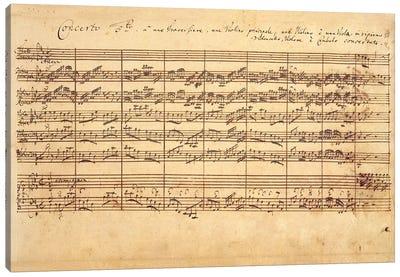 The Brandenburg Concertos, No.5 D-Dur, 1721   Canvas Art Print