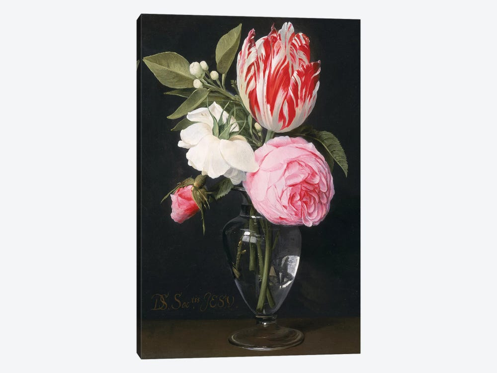 Flowers in a glass vase  by Daniel Seghers 1-piece Art Print