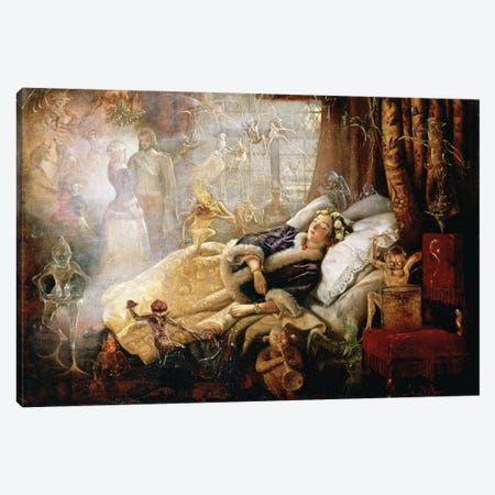"""""""The Stuff that Dreams are Made of""""  Canvas Print #BMN10610} by John Anster Fitzgerald Canvas Wall Art"""