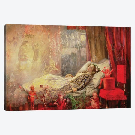 The Stuff that Dreams are Made Of, 1858   Canvas Print #BMN10616} by John Anster Fitzgerald Canvas Art Print