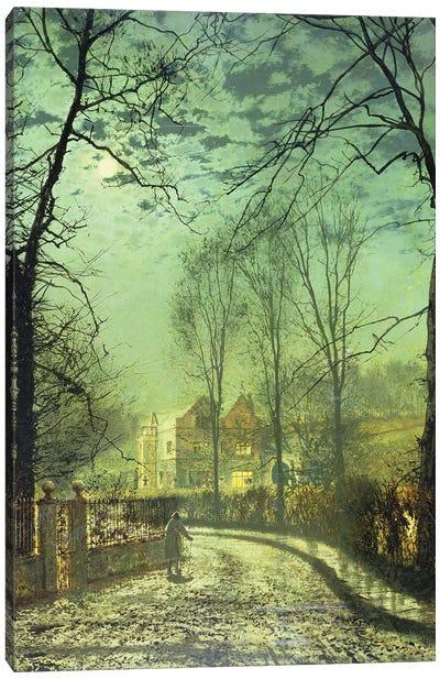 A Moonlit Road, 19th century Canvas Art Print