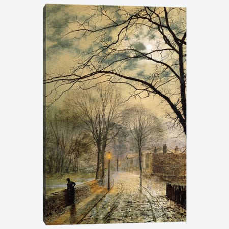 A Moonlit Stroll, Bonchurch, Isle of Wight, 1878  Canvas Print #BMN10620} by John Atkinson Grimshaw Canvas Print
