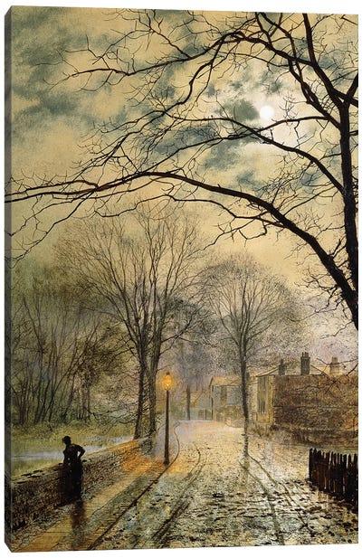 A Moonlit Stroll, Bonchurch, Isle of Wight, 1878  Canvas Art Print