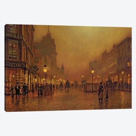 A Street at Night  Canvas Print #BMN10621} by John Atkinson Grimshaw Canvas Art Print