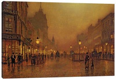 A Street at Night  Canvas Art Print