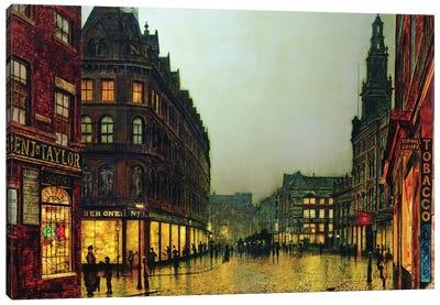 Boar Lane, Leeds, 1881  Canvas Art Print