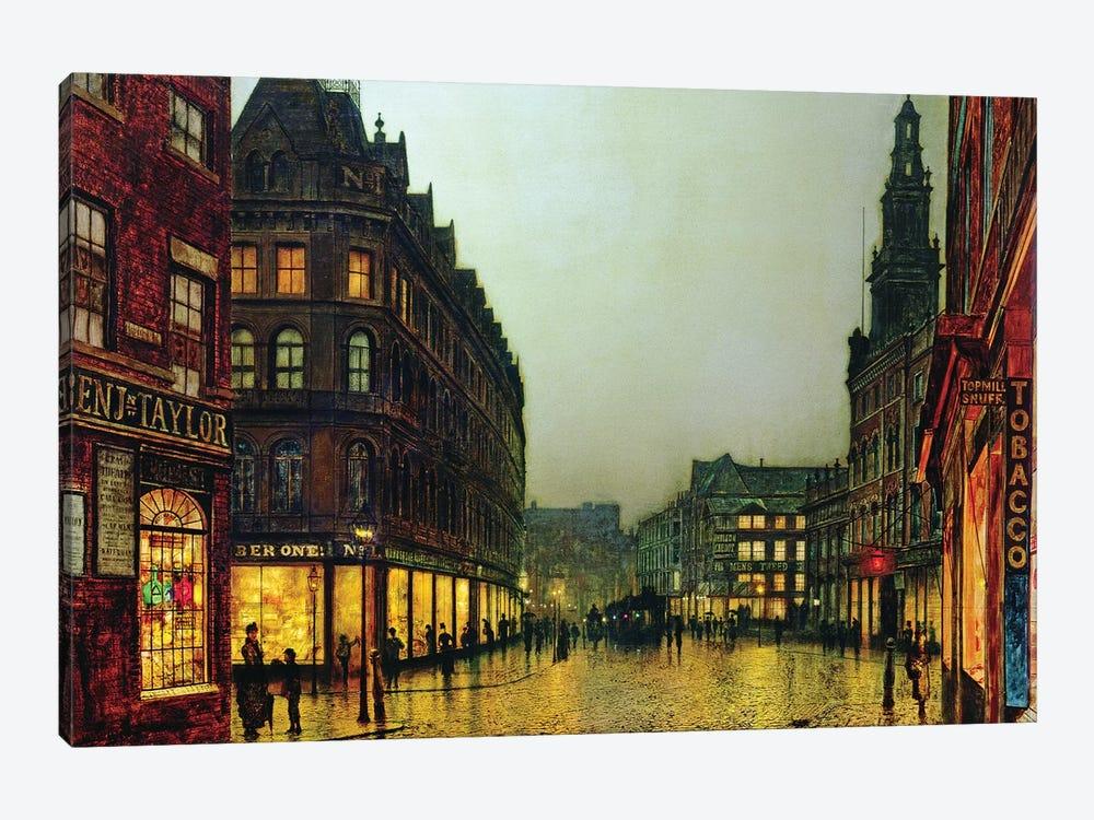 Boar Lane, Leeds, 1881  by John Atkinson Grimshaw 1-piece Canvas Art Print