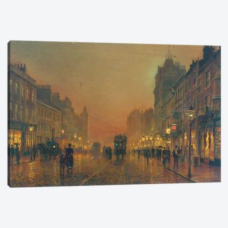 Briggate, Leeds, 1891  Canvas Print #BMN10628} by John Atkinson Grimshaw Canvas Art Print