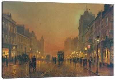 Briggate, Leeds, 1891  Canvas Art Print