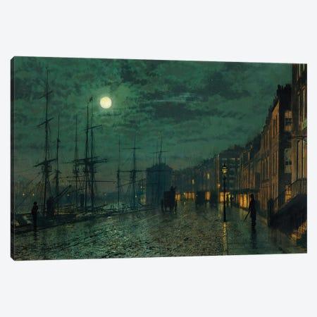 City Docks by Moonlight  Canvas Print #BMN10629} by John Atkinson Grimshaw Canvas Print