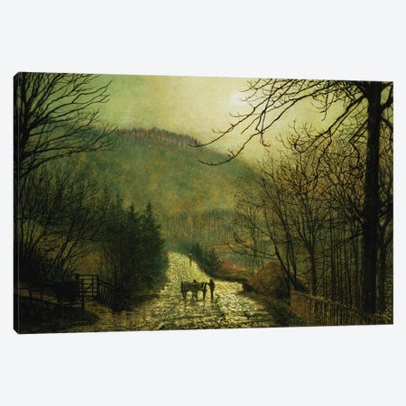 Forge Valley Canvas Print #BMN10631} by John Atkinson Grimshaw Canvas Wall Art