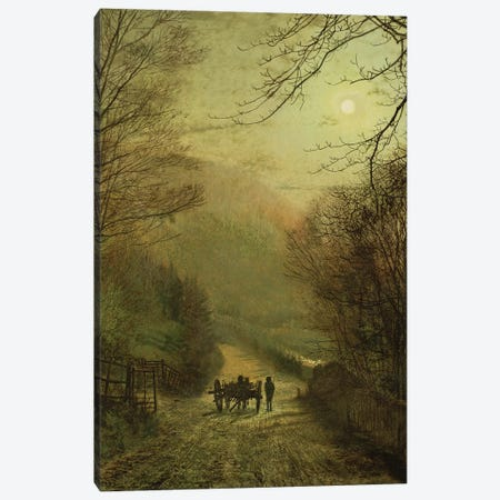 Forge Valley, Scarborough Canvas Print #BMN10632} by John Atkinson Grimshaw Canvas Wall Art