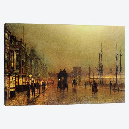 Glasgow  Canvas Print #BMN10633} by John Atkinson Grimshaw Canvas Artwork