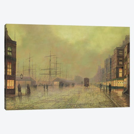 Glasgow Docks  Canvas Print #BMN10634} by John Atkinson Grimshaw Canvas Print