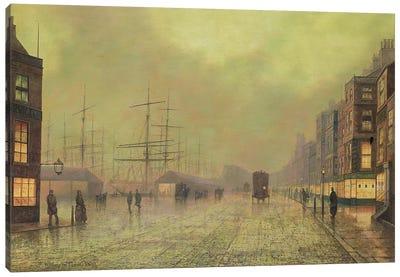 Glasgow Docks  Canvas Art Print