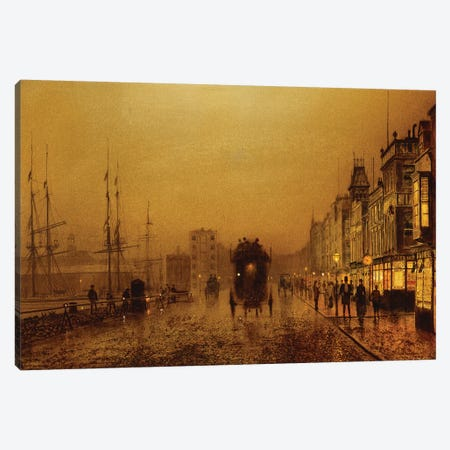 Glasgow Docks, 1892  Canvas Print #BMN10635} by John Atkinson Grimshaw Canvas Print